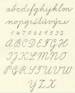 písané písmo používané na Slovensku po roku 1932